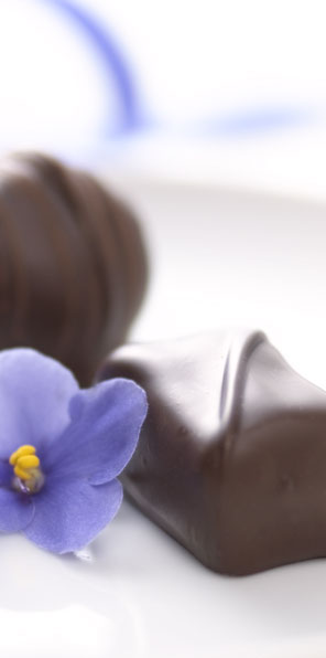 Chocolates with a flower