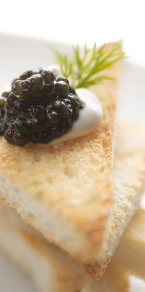 Golden toast with cream and blackberry