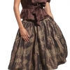 dress skirt fashion brown bernardo