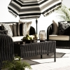 patio furniture wicker fern palm umbrella sunbrella cushions table chairs deck