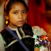 Girl selling candy indigenous child labor